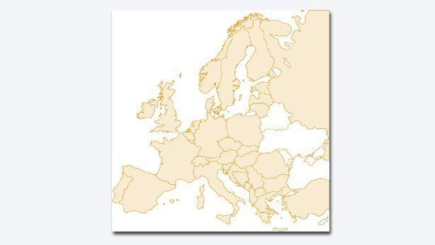 Extended Coach European map coverage
